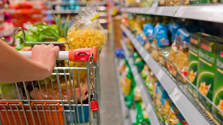 carrello al supermercato