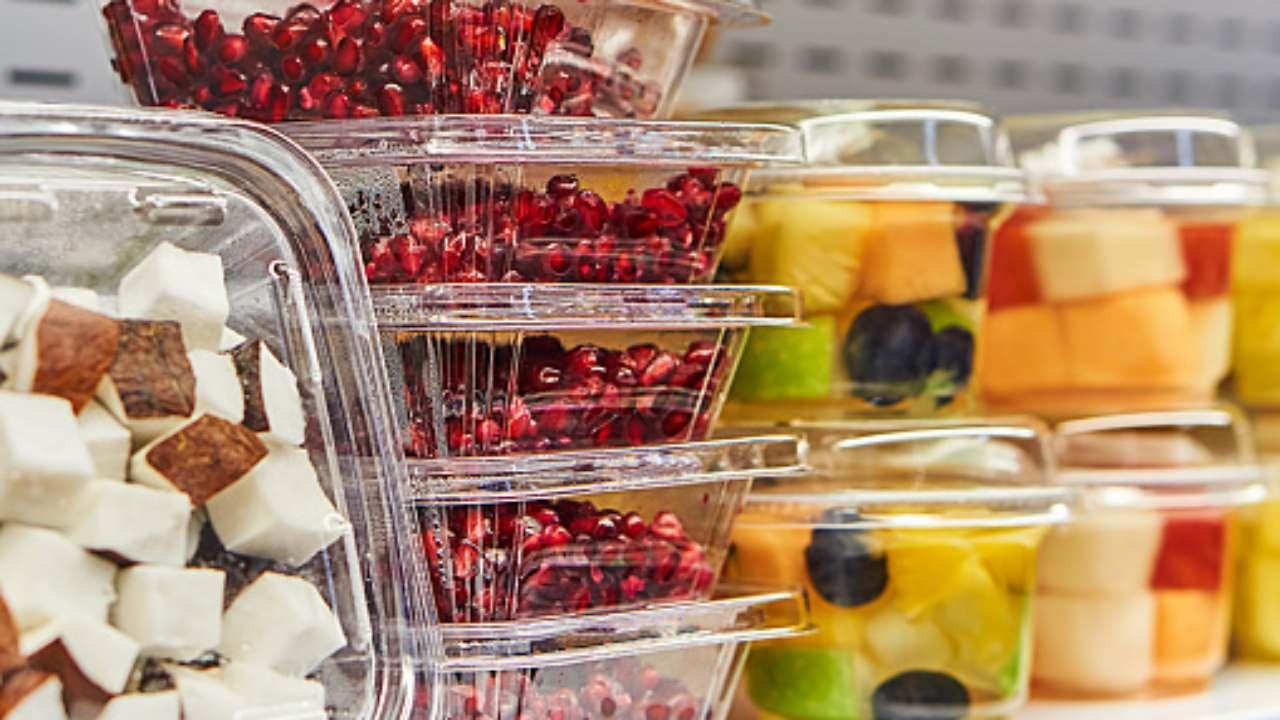 cibo in plastica
