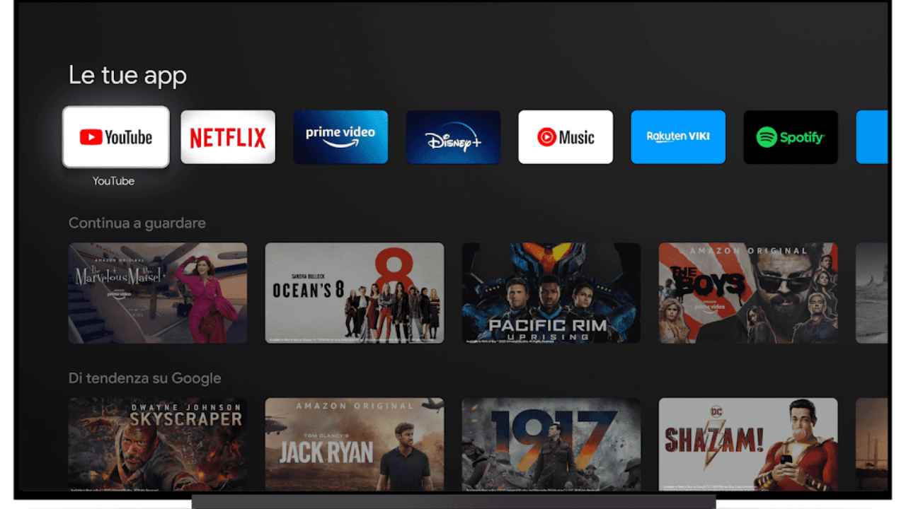 Su Android TV è boom di installazioni di YouTube