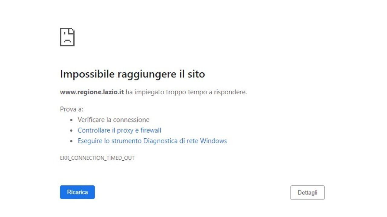 Regione Lazio, gli hacker bloccano la vaccinazione